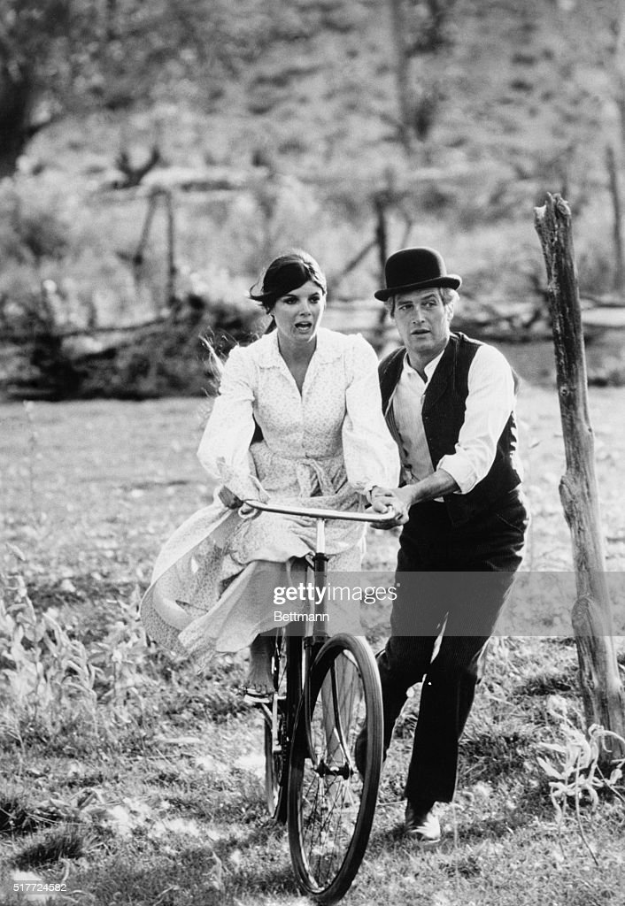 Paul Newman And Katharine Ross In Butch Cassidy And The Sundance