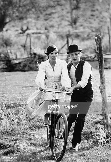 "At the time of ""Butch Cassidy and the Sundance Kid,"" the bicycle was a novel form of transportation. Butch latches on to one. Here, he takes his..."