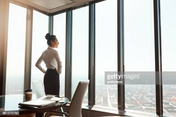 at the top of the business world - confidence stock pictures, royalty-free photos & images