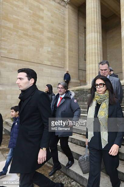 at the trial for abuse of weakness against billionaire Liliane Bettencourt Francoise BettencourtMeyers his son JeanVictor and her lawyer Anaud Dupin...