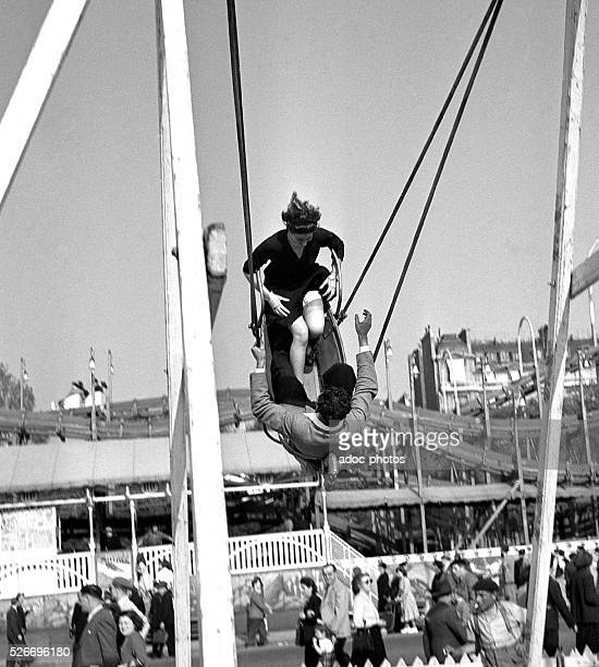 At the Tr��ne funfair in Paris In 1945