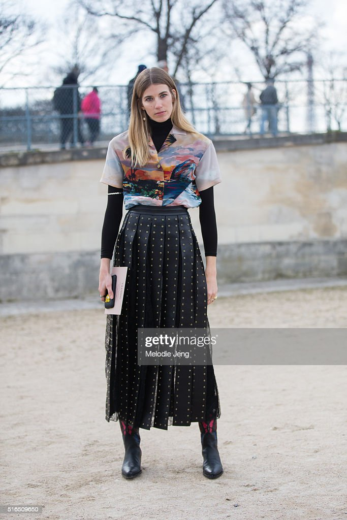 at the Valentino show at the Tuileries on March 07, 2016 in Paris, France.