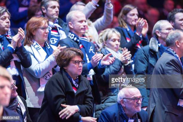 at the victory of Lucas Pouille of the Davis Cup Martine Aubry is photographed for Paris Match on november 26 2017 in Lille France