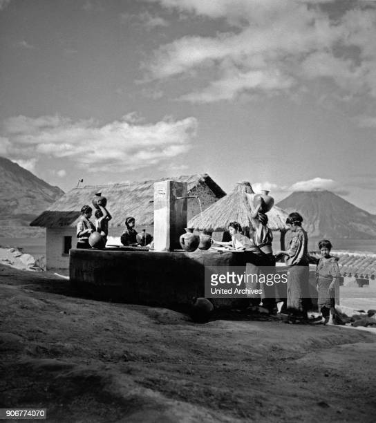 At the village well of San Antonio near Lake Atitlan Guatemala 1970s