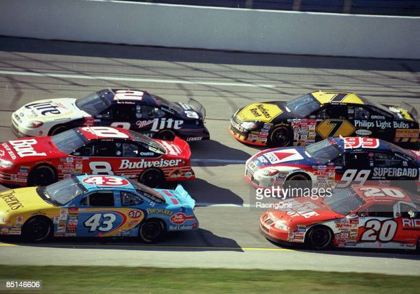 At the Winston 500 are John Andretti Dale Earnhardt Jr Rusty Wallace Tony Stewart Jeff Burton and Michael Waltrip on October 15 2000 at the Talladega...