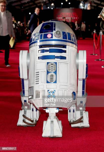 D2 at the world premiere of Lucasfilm's Star Wars The Last Jedi at The Shrine Auditorium on December 9 2017 in Los Angeles California
