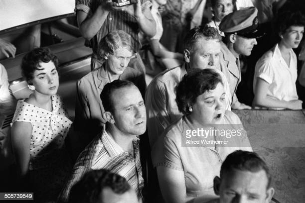 Alfred Wertheimer/Getty Images At their son's Russwood Park Elvis Presley's parents Vernon Elvis Presley and Gladys Love Presley sit with his...