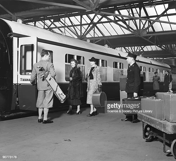 At this time the Great Western Railway's carriages had compartments although by the 1930s the other railway companies had begun to adopt open plan...