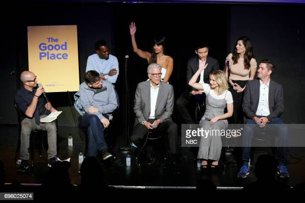 PLACE 'FYC at UCB' Pictured Front Row Damon Lindelof Moderator Michael Schur Executive Producer Ted Danson Kristen Bell Drew Goddard Executive...