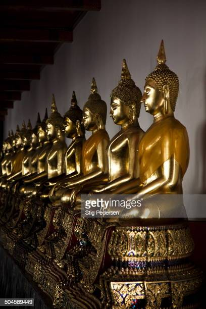 At Wat Pho Temple in Bangkok you can see 100s of large Buddha statues all which represents a day of the week, one can Monday or Tuesday and so on,...