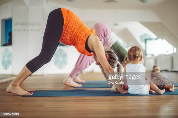 At yoga class