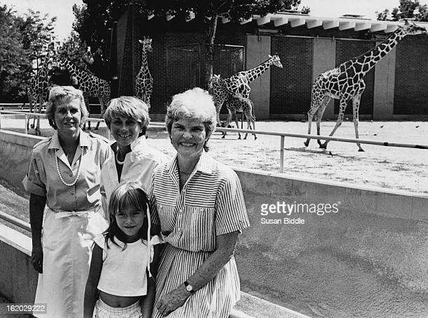 JUL 29 1984 At zoo l to r Gene Koelbel Mrs Louis Swiatek Mrs Forrest McGrath and Magda Permut