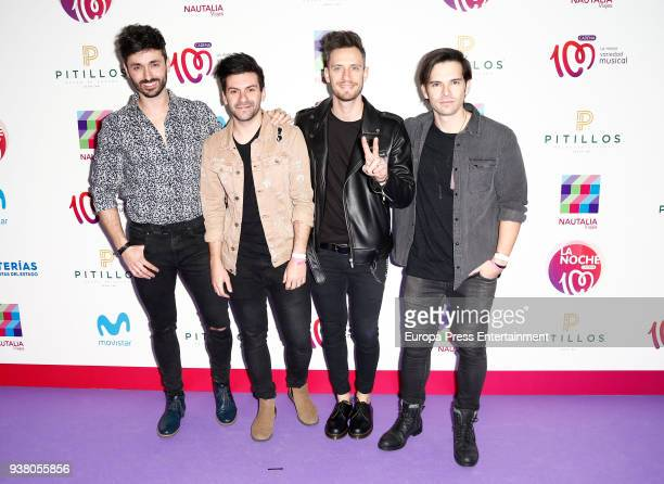 Atacados music band attend 'La Noche De Cadena 100' charity concert at WiZink Center on March 24 2018 in Madrid Spain