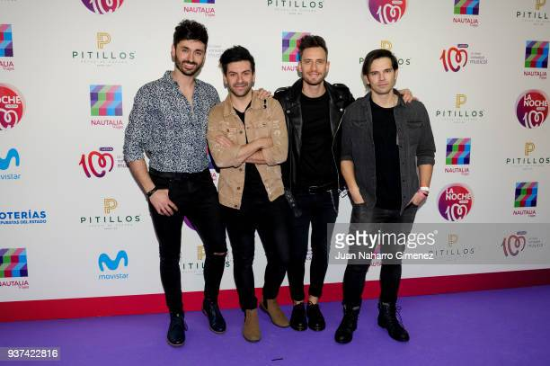 Atacados music band attends 'La Noche De Cadena 100' charity concert at WiZink Center on March 24 2018 in Madrid Spain