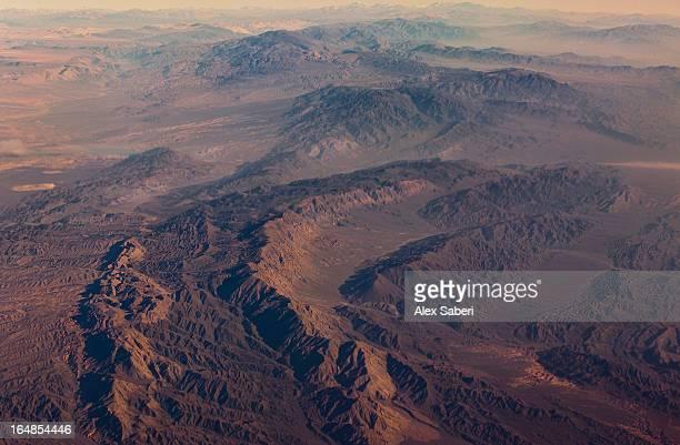 atacama desert between argentina and chile, shot from an aircraft. - alex saberi bildbanksfoton och bilder