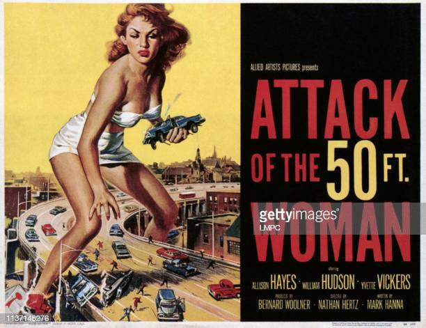 Atack Of The 50 Foot Woman poster Allison Hayes 1958