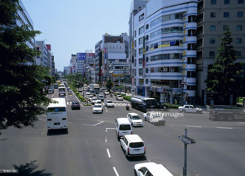 Atago kamisugi Street, Sendai, Miyagi, Japan : Stock Photo
