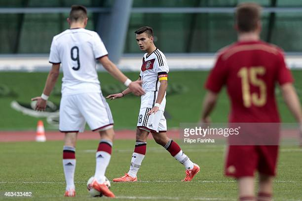 Atakan Akkaynak of Germany after the Spanish second goal during the U16 UEFA development tournament match between Germany and Spain on February 14...
