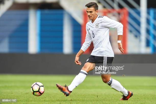Atakan Akkaynak of U19 Germany controls the ball during soccer match U19 Germany v U19 Northern Ireland UEFA Under19 Euro Qualifier on October 7 2017...