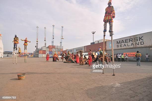 Atakpame Säbelschnäbler Tänzer In Togo