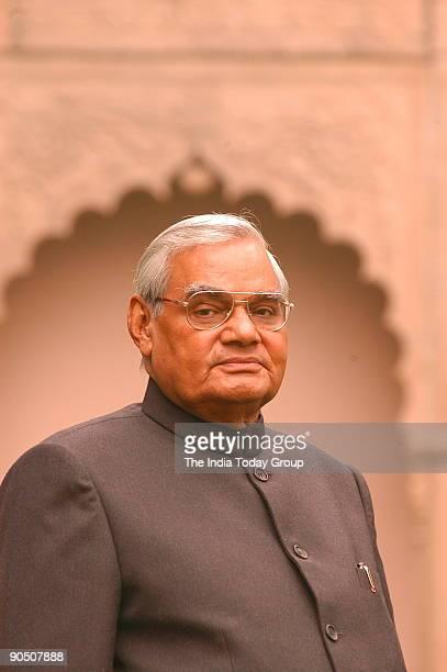 Atal Bihari Vajpayee Former Prime Minister of India at his his Residence in New Delhi India