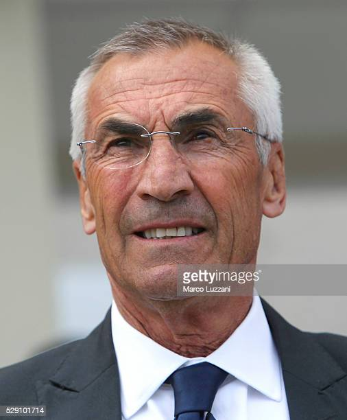 Atalanta BC coach Edy Reja looks on before the Serie A match between Atalanta BC and Udinese Calcio at Stadio Atleti Azzurri d'Italia on May 8 2016...