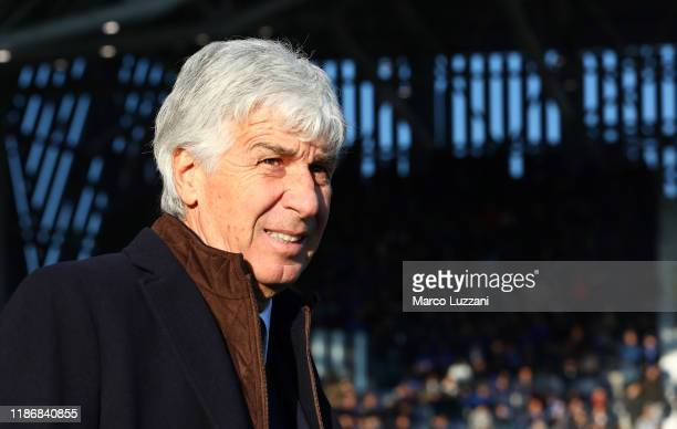 Atalanta BC coach Gian Piero Gasperini looks on before the Serie A match between Atalanta BC and Hellas Verona at Gewiss Stadium on December 7 2019...