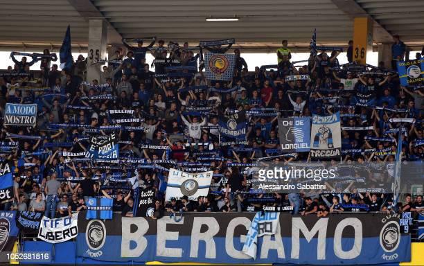 Atalanta BC fans during the Serie A match between Chievo Verona and Atalanta BC at Stadio Marc'Antonio Bentegodi on October 21 2018 in Verona Italy