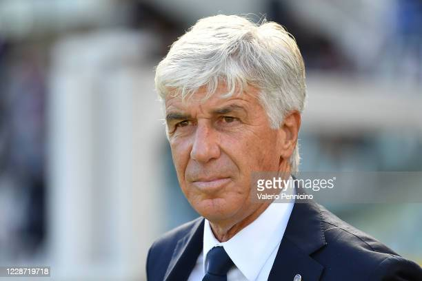 Atalanta BC head coach Gian Piero Gasperini looks on during the Serie A match between Torino FC and Atalanta BC at Stadio Olimpico di Torino on...
