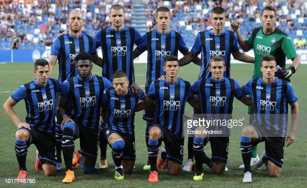 Atalanta BC team line up before the Europa League Third Qualifying Round match between Atalanta BC and Hapoel Haifa at Mapei Stadium Citta' del...