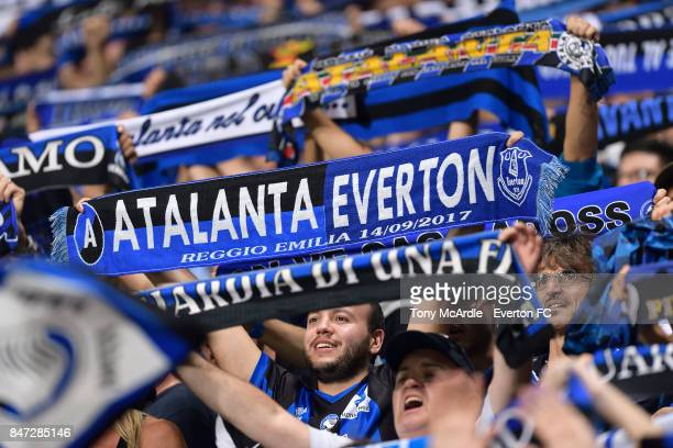 Atalanta fans during the UEFA Europa League Group E match between Atalanta and Everton at Mapei Stadium on September 14 2017 in Reggio nell'Emilia...