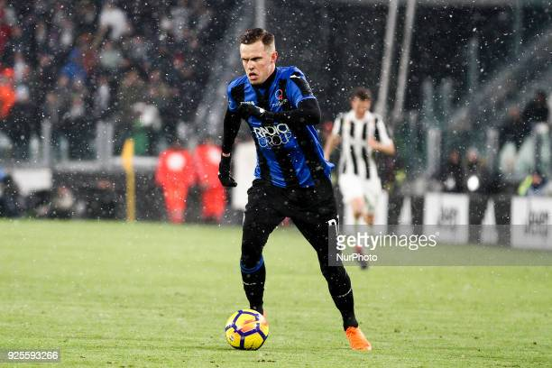 Atalanta midfielder Josip Ilicic in action during the Coppa Italia semi final football match JUVENTUS ATALANTA on at the Allianz Stadium in Turin...