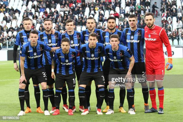 Atalanta team poses in order to be photographed before the Serie A football match n.26 JUVENTUS - ATALANTA on at the Allianz Stadium in Turin, Italy.