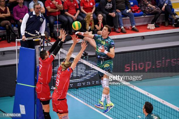Atanasijevic of Perugia during the CEV Champions League match Chaumont 52 and SIR Safety Perugia on March 14 2019 in Reims France