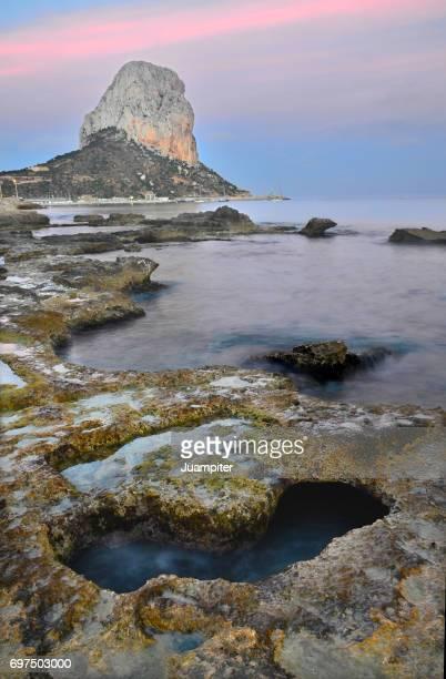 Atardecer en la Playa de Calpe y el Peñón de Ifach