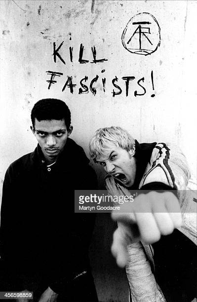 Atari Teenage Riot Alex Empire and Carl Crack portrait Brighton United Kingdom 1992