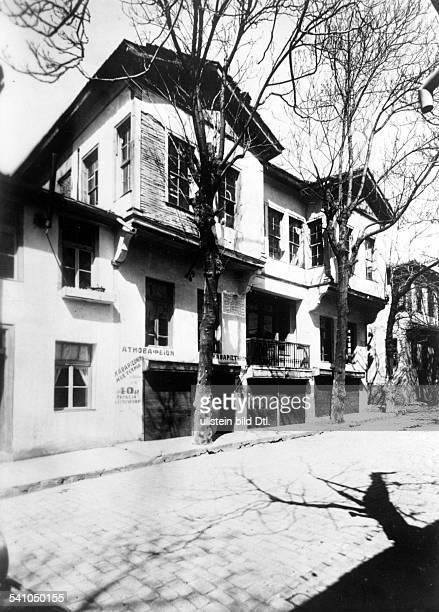 Atatuerk Kemal *12031881Politiker TürkeiGeburtshaus in Thessaloniki 1937