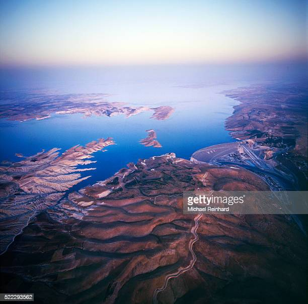 ataturk dam turkey - euphrates river stock pictures, royalty-free photos & images