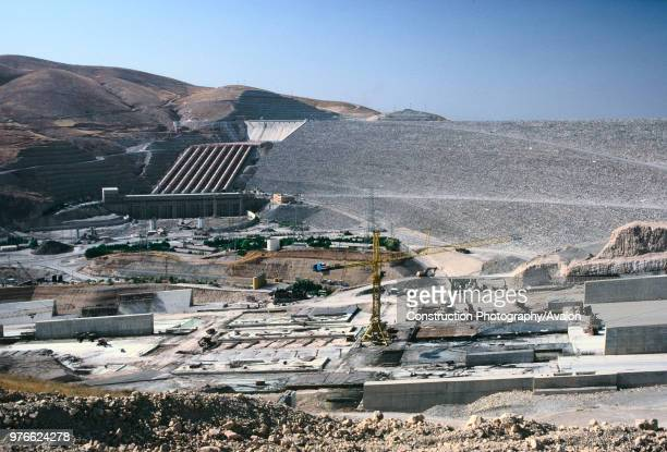 Ataturk dam under construction, Turkey Ataturk Dam - the world's fifth largest earth-and-rock fill dams - is the centerpiece of the 21 dams of the...