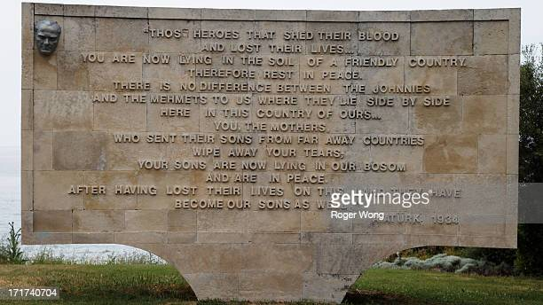 Ataturk speech at Ari Burnu costal monument in Gallipoli