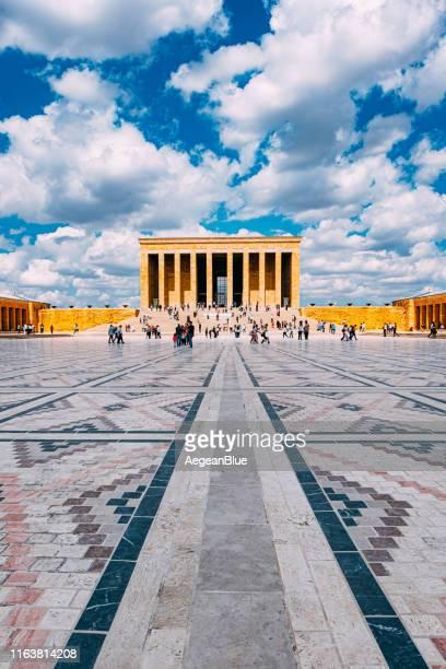 ataturk's mausoleum anitkabir - ankara turkey stock pictures, royalty-free photos & images
