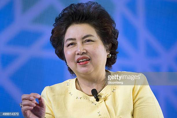 Atchaka Sibunruang Thailand's minister of industry speaks at the Bloomberg ASEAN Business Summit in Bangkok Thailand on Friday Dec 4 2015 Business...