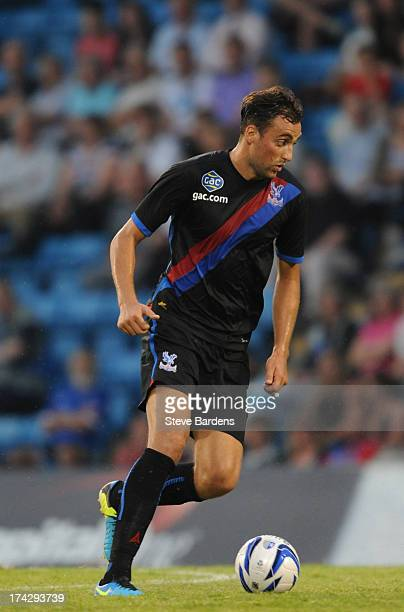 Atdie Nuhiu of Crystal Palace in action during the pre season friendly match between Gillingham and Crystal Palace at Priestfield Stadium on July 23...