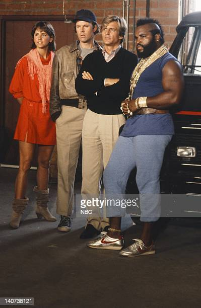 ATeam The Taxicab Wars Episode 7 Pictured Melinda Culea as Amy Amanda Allen Dwight Schultz as 'Howling Mad' Murdock Dirk Benedict as Templeton...