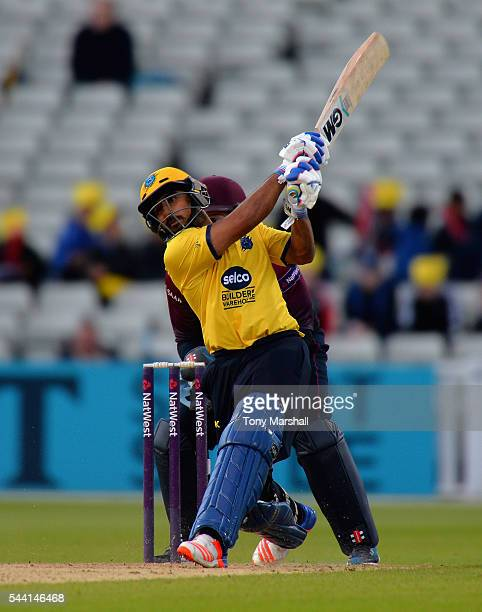Ateeq Javid of Birmingham Bears bats during the NatWest T20 Blast between Birmingham Bears and Northants Steelbacks at Edgbaston on July 1 2016 in...