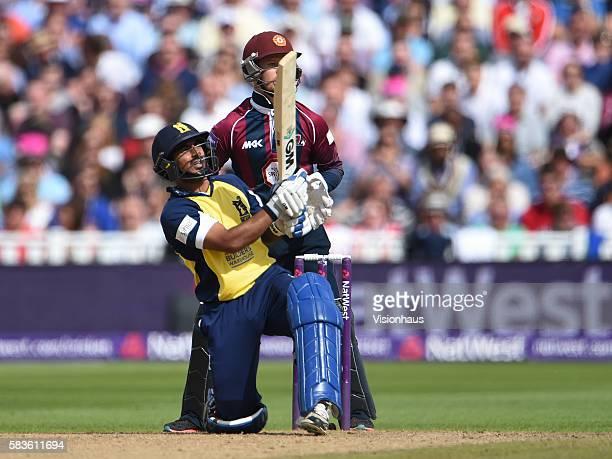 Ateeq Javid of Birmingham Bears batting during the first NatWest T20 Blast SemiFinal between Northants Steelbacks v Birmingham Bears at Edgbaston...