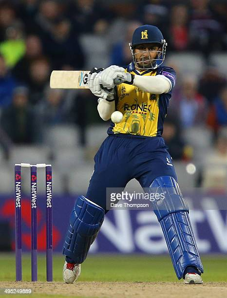 Ateeq Javid of Birmingham Bears during The Natwest T20 Blast match between Lancashire Lightning and Birmingham Bears at the Emirates Old Trafford...
