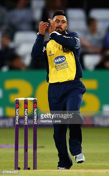 Ateeq Javid of Warwickshire in action during the NatWest T20 Blast match between Nottinghamshire and Warwickshire at Trent Bridge on May 15 2015 in...