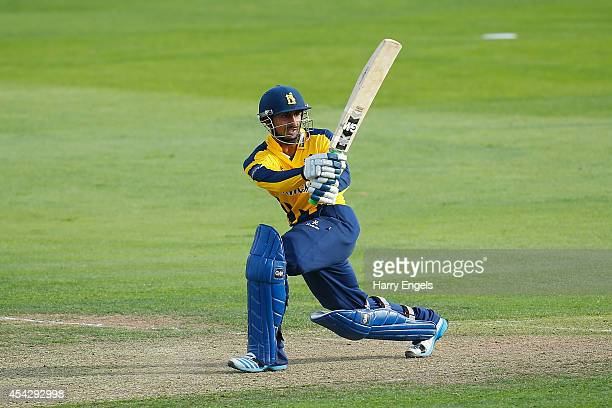Ateeq Javid of Warwickshire picks up some runs during the Royal London OneDay Cup Quarter Final match between Essex Eagles and Warwickshire at the...