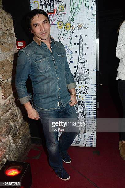 Atef from The Voice attends the Perfect Stranger Atef Show Case At Jane Club on March 03 2014 in Paris France